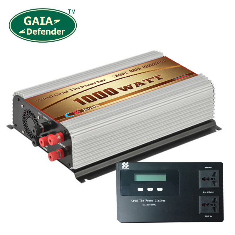 1000W Wind Power Grid Tie Inverter with Limiter / Dump Load Controller Resistor 45v-90v to 190v-260v 3 phase generator(China (Mainland))