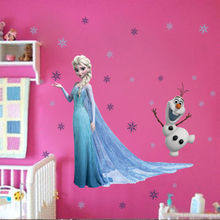 Elsa Snowflaks Olaf Wall Sticker Decals for Kids Child Nursery Mural CAXY(China (Mainland))