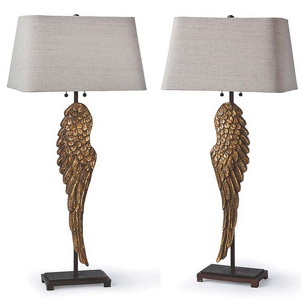 American Country Lamp Retro Living Room Bedroom Wings Angel Wings Art Bedside Lamp Table Lamp