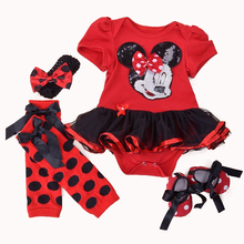 Infant Baby Girl Dress 2016 Fashion Clothing Sets Tutu Cotton Cartoon Party Toddle Girl Christening Dresses 4th Of July Outfit