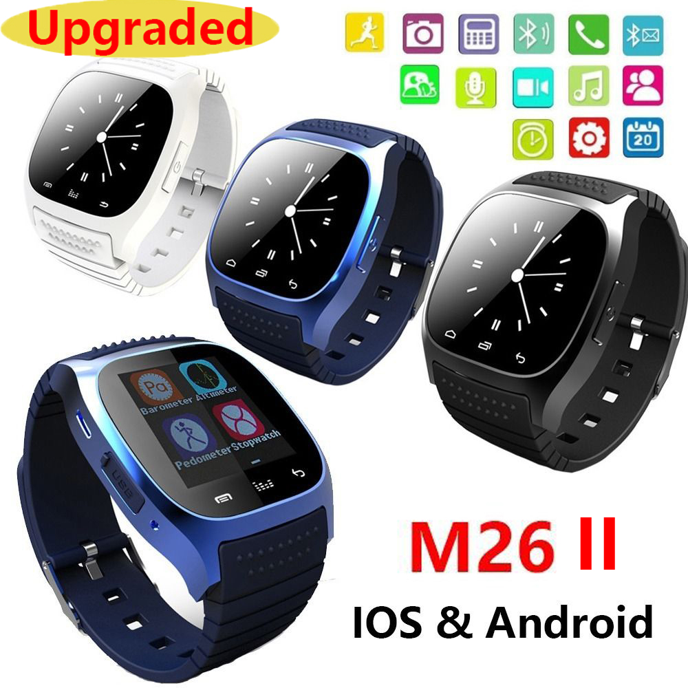 Waterproof Smartwatch M26 Bluetooth Smart Watch With LED Alitmeter Music Player Pedometer For Apple IOS Android Smart Phone 8955(China (Mainland))