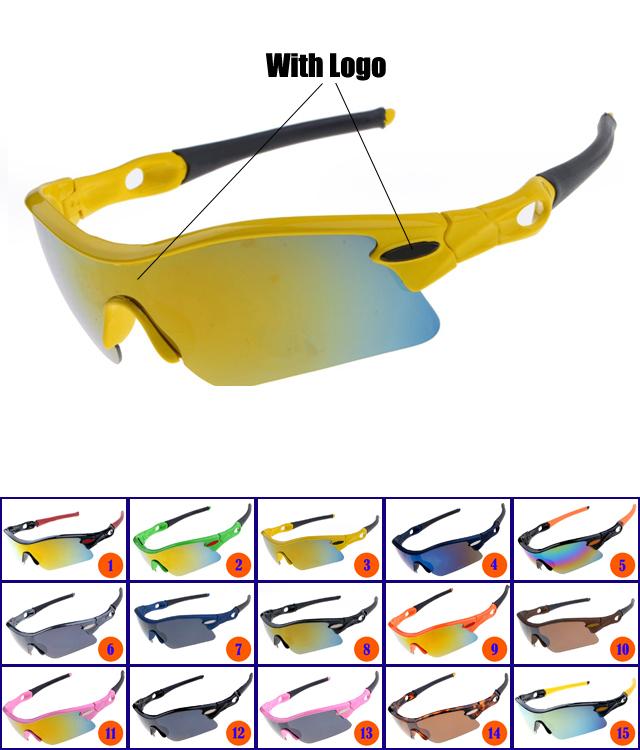 2015 Top quality Brand Radar Path Cycling Goggle Sports Sunglass with Retail Box Popular color mix unisex Eyewear Free Shipping!(China (Mainland))