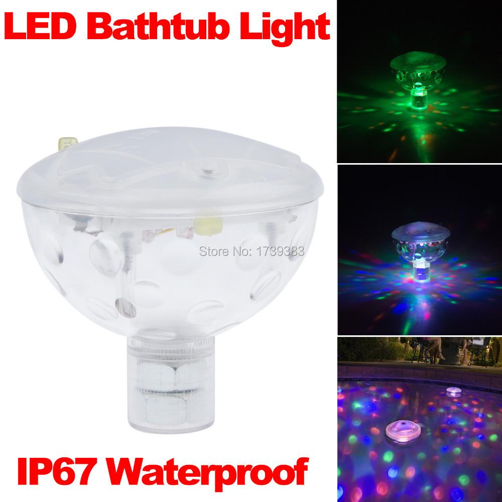 2015 Creative 6V 3AAA Underwater LED Aquarium Light Show for Pond Bathtub Spa Hot Tub Disco LED Swimming Pool Light Freeshipping(China (Mainland))