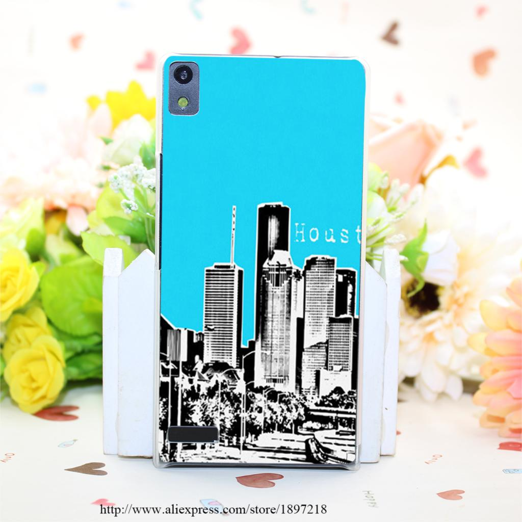 1535PQ Houston Sky Hard Transparent Painted Cover for Huawei Ascend P6 P7 P8 P8 Lite Case Protective(China (Mainland))