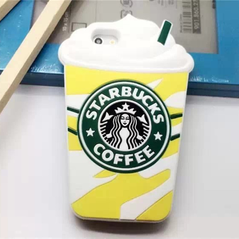 For I6 Star buck Coffee Cup Silicon Soft font b Case b font Covers for font