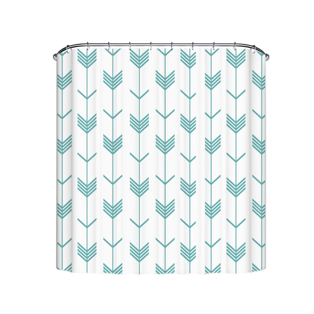 Waterproof Fabric Multiple Size And Color Shower Curtains With Hooks Chinese Style Alternatives