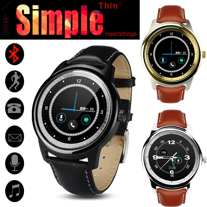 Free DHL Simple Thin IPS DM365 Smart Watch LCD Round Screen Bluetooth 4.0 MTK2502 Smartwatch Sync for IOS Android Phone VS DM360(China (Mainland))