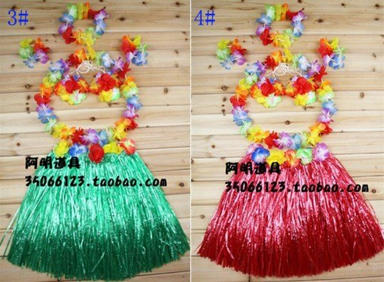 Free shipping,Hot selling,Hawaiian grass skirt suits,length 40 CM,6 pcs/set,children style,Halloween costume 10 colors wholesaleОдежда и ак�е��уары<br><br><br>Aliexpress
