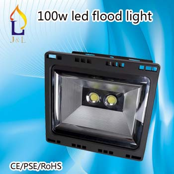 Free shipping 2pcs/lot outdoor 100W LED flood light waterproof IP65 tennis court Lighting(China (Mainland))