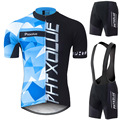 Phtxolue 2016 Cycling Jersey Short Sleeve Bike Clothing Bicycle Bib Shorts Cycling Clothes Wear Set Ropa