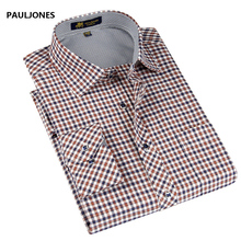 Buy 2017 spring New style Men's shirts Long sleeve fine plaid brand dress shirt men Business man casual shirts men large size for $14.03 in AliExpress store