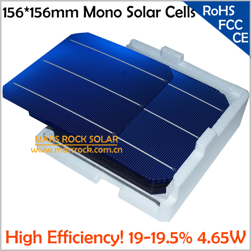100pcs Monocrystalline Silicon Solar Cells 156x156mm A