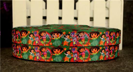 """7 / 8 """"22mm Dora Characters Printed Grosgrain Ribbon 10 Yard Free Shipping 9(China (Mainland))"""