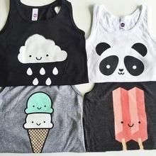 Bambino delle parti superiori dei bambini della maglia dei ragazzi di estate magliette carro armato delle ragazze 2015 modo ha stampato bambino tees t-shirt abbigliamento(China (Mainland))