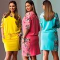 plus size women clothing summer dress new printing leisure fashion woman dress Large size L
