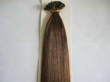 Real Remy High Quality 22inch Pre Bonded Flat tip Hair Extensions Italian Keratin Natural Hair on Capsule,1g/s, 100s/Pack #10(China (Mainland))