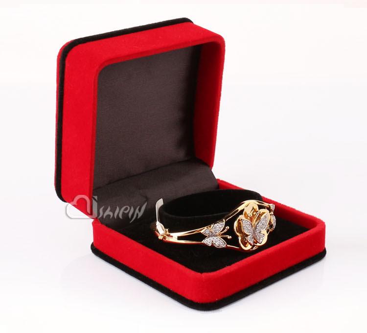 China Storage Plastic Velvet Jewelry Display Box Suppliers9*9*4(China (Mainland))