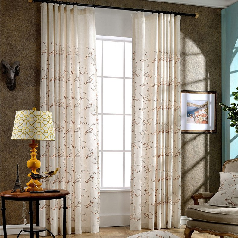 Buy Korean Country Style Curtains Window Curtain Living Room Blackout Bedroom Modern David