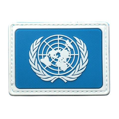 U.N UN United Nations PVC Genuine Shoulder Patch Badge (Blue) #gib(China (Mainland))