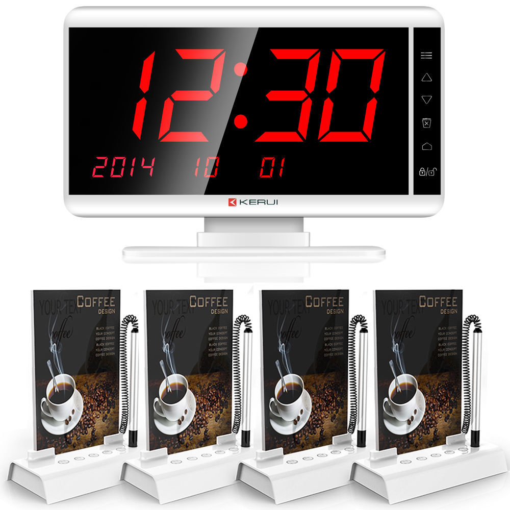 KERUI Wireless Calling Waiter System for Coffee shop Restaurant Service System(China (Mainland))