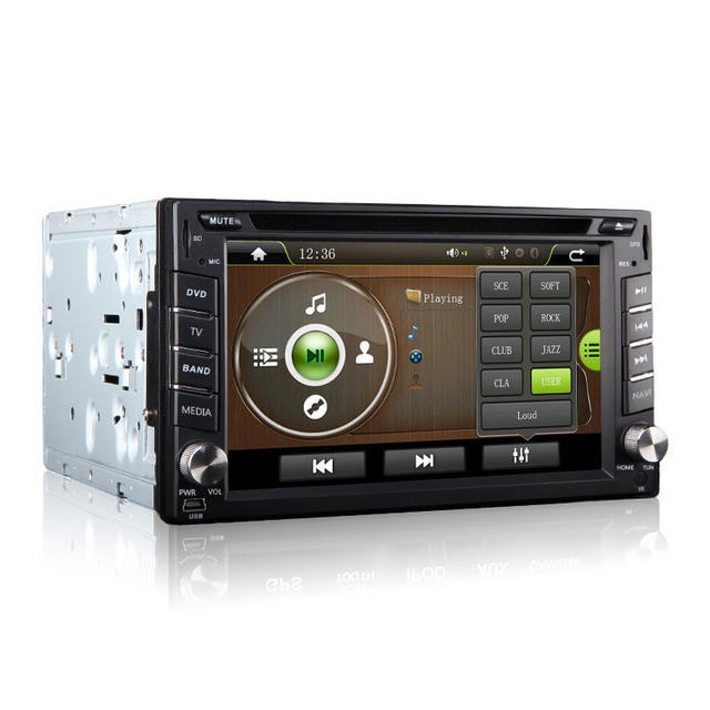 HOT Sale Universal MTK 2 Din 6.2 Inch Car DVD player with GPS,Including the Map card
