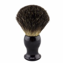 Style 1#  Black Color Resin Handle Black Pure Badger Hair Shaving Brush(China (Mainland))