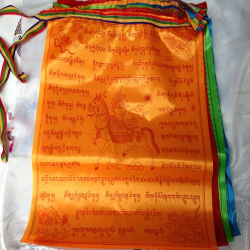 10 Kind of incantation Tibet Hadad Cloth Prayer Flag Wind Horse Flag 7 Meters Buddhist Scriptures Natural Greetings(China (Mainland))