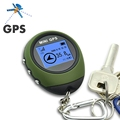 Protable Keychain GPS Locator Mini Tracking Device Travel Pathfinding Outdoor Handheld Tracker Watch shaped Design