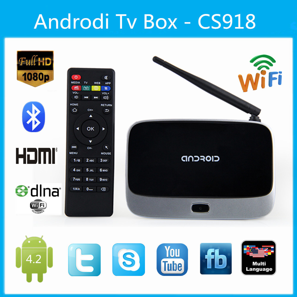 Cheap CS918 MK888 Smart tv box Android 4.4 TV Box RK3188T Quad Core 2GB+8GB Mini PC Smart TV Media Player Wifi Antenna RJ45(China (Mainland))