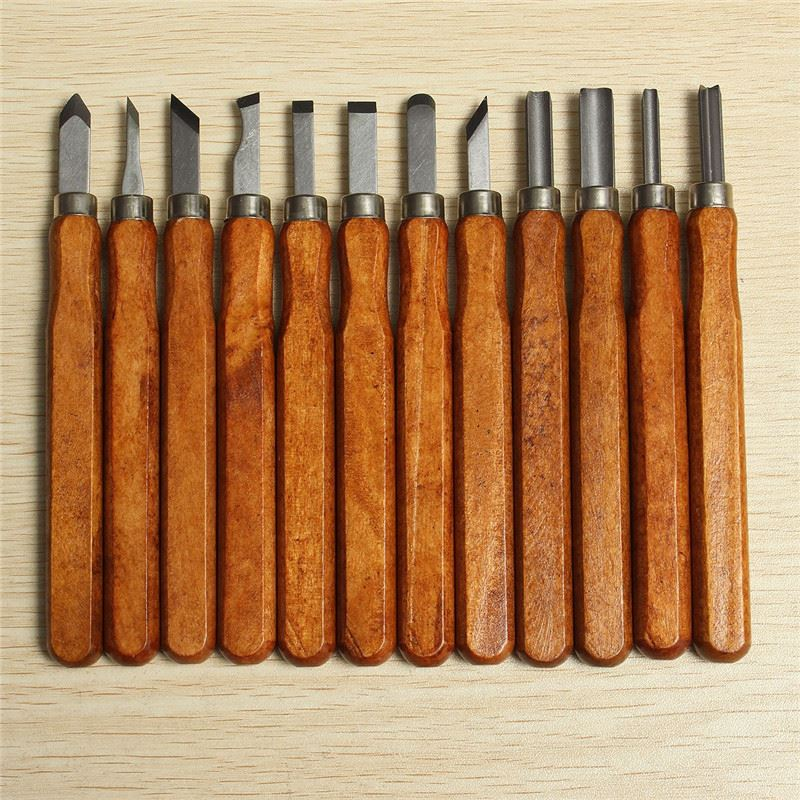 High Quality 16pcs/set Woodcut Knife DIY Tools Engrave Hand Carving Wood Chisel Woodworking Graver Whetstone(China (Mainland))