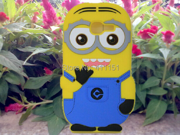 3D Despicable 2 Minions Soft Silicone Back Cover Case Samsung Galaxy Trend Lite S7390 S7392 - ALEX ZHOU Store store