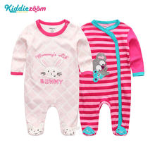 Clothing Sets Baby Girl Clothes Full Sleeve Ropa bebe 0-12M Cotton Bodysuit Costumes Baby Boy Clothes Newborn Baby Clothes(China)