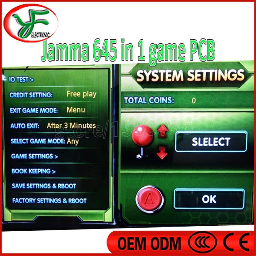 Factory price pandora 4 jamm game box 645 1 borad jamma arcade pcb multi card VGA output - Guangzhou YFeng Electronic Co., Ltd. store