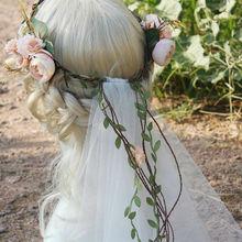 Buy 2016 Fashion Flower Wreath Veil Flowe Headbands Tiaras Veil Wedding Hair Accessories Bridal Flower Crown Veils Flower headpieces for $7.99 in AliExpress store