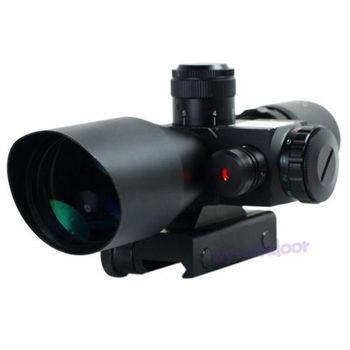 Тактический 2.5-10x40 Прицел Красный Зеленый Двойной подсветкой Mil-dot Прицел с Красный Лазерный Прицел охотничий Прицел Airsoft 20 мм