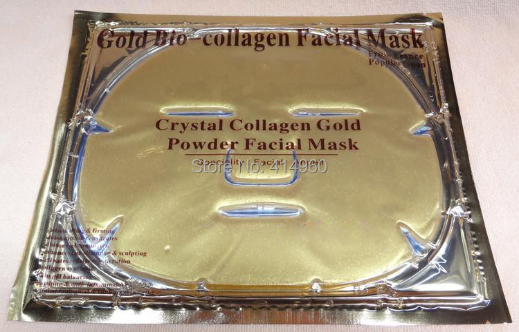 Collagen Facial Mask crystal Gold powder collagen face masks Collagen eye Mask15 pcs + 5pcs Face mask +2pcsNose mask 22pcs/lot(China (Mainland))