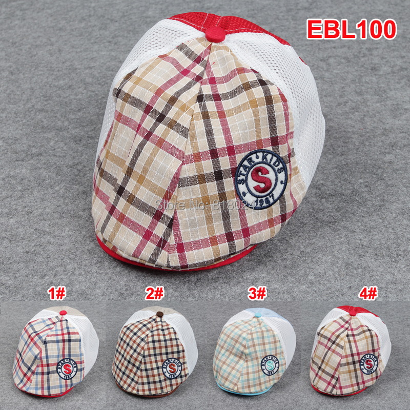 2015 Plaid Summer Baby Hat Kid Toddler Infant Boy's Baby Girls Hat Casquette Peaked Baseball Beret Cap for 1-3 yrs(China (Mainland))