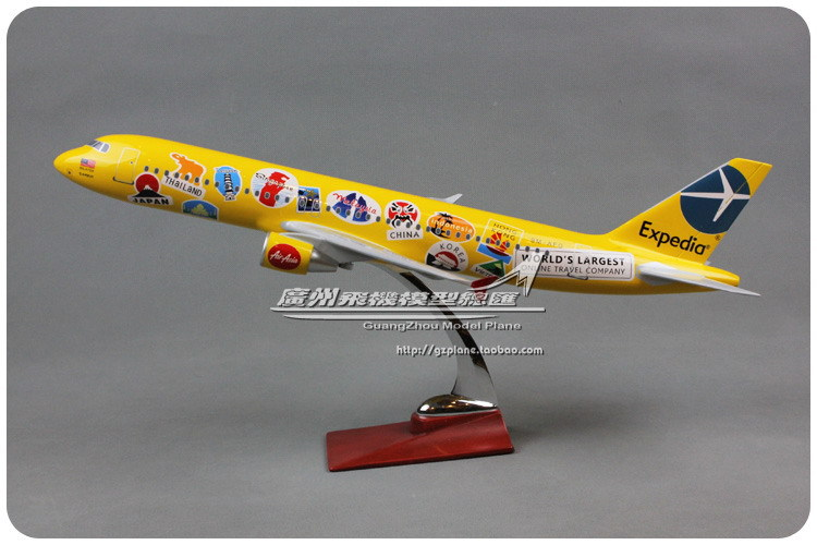 47cm Resin AirAsia Expedia Airlines Plane Model Airbus A320 Airways Aircraft Airplane Model w Stand Gift Toy(China (Mainland))