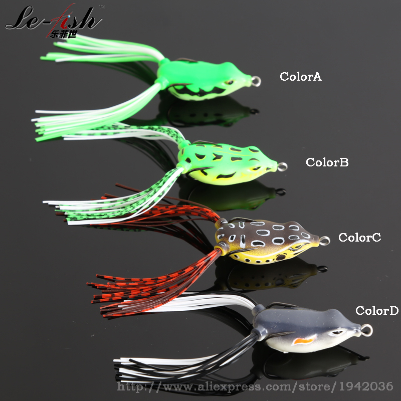 Frog Fishing Lure Soft Plastic Beard 4cm 6g Fake Baits FROG Double Fuller Hooks Topwater Floating - China Le-Fish Outdoor Co.,Ltd Store store