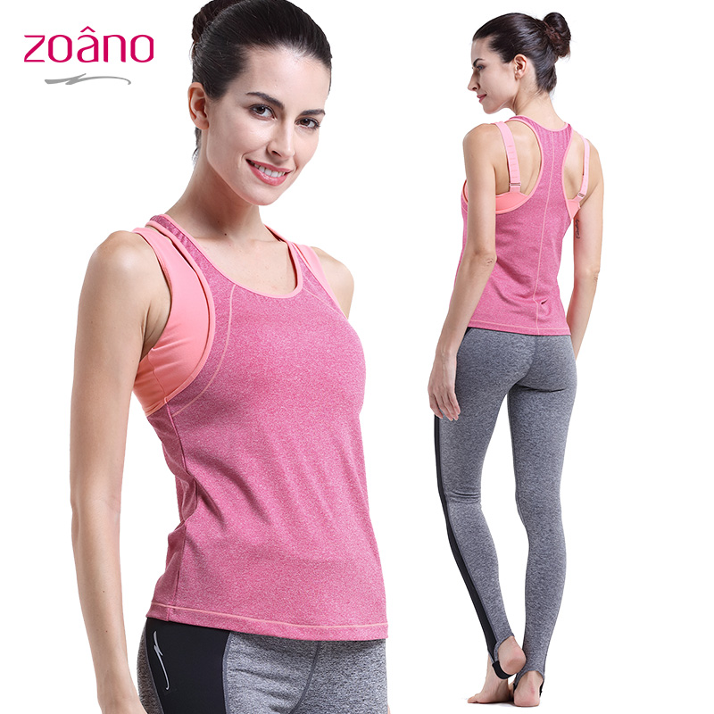 Zoano Summer New Arrivals Sleeveless Sports Tank Tops Women Yoga Clothing Slim Comfortable Running Vest T-shirts Women,YB52131<br><br>Aliexpress