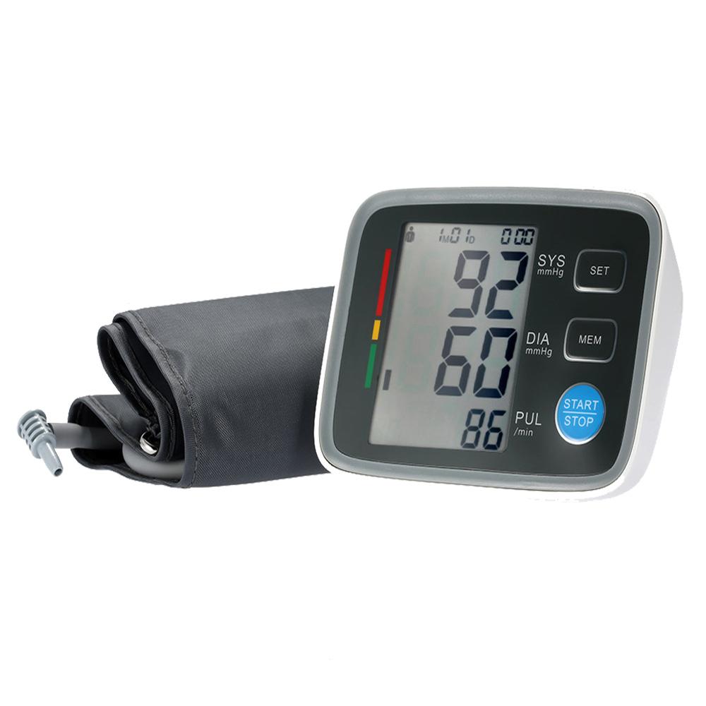 Full Automatic Digital Blood Pressure Monitor Pro Upper Arm Cuff Tonometer Hematomanometer Sphygmomanometer Heart Rate Monitor