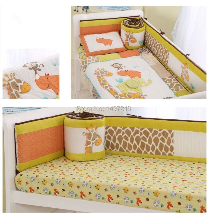 PH027 child cot mattress linen bumper set  (13)