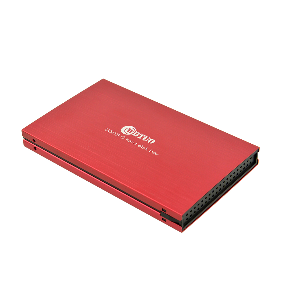 "RED USB 3.0 SATA HDD External Hard Drive Case Enclosure For 2.5 inch 2.5"" Mobile Disk HDD Enclosure(China (Mainland))"