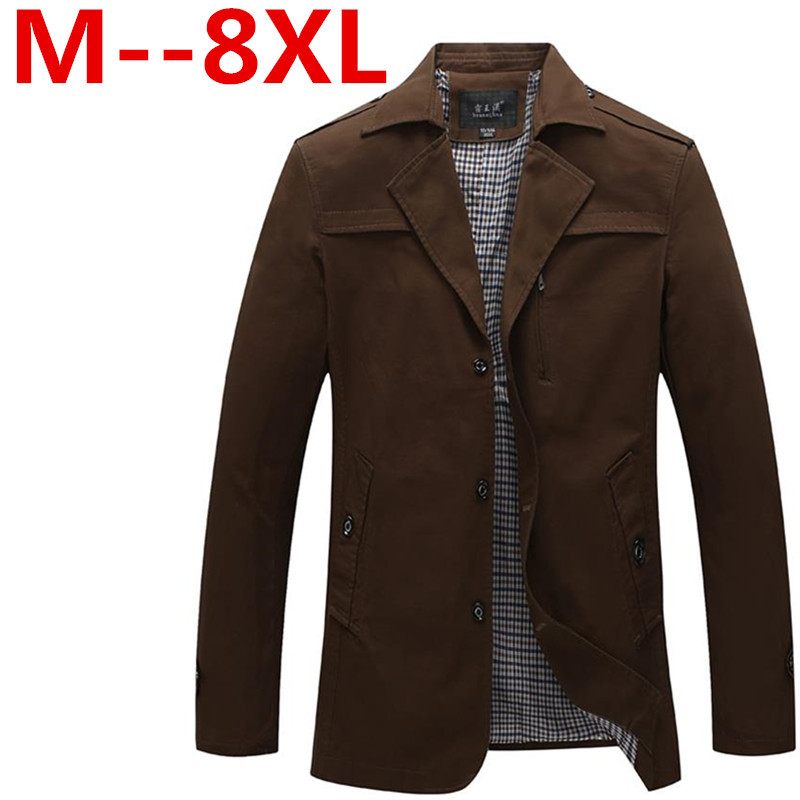 8xl 7xl 6xl Mens Jacket men coat waterproof brand new winter jacket large size trench 5XL Coat Slim Fall Outerwear - good luck shop store