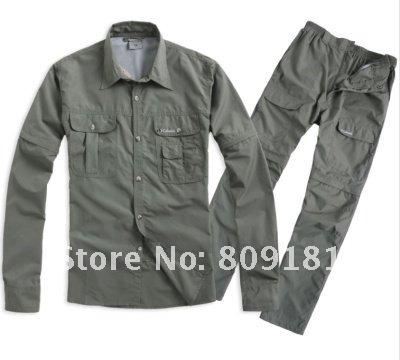 men women / Quick Dry jacket pants suits removable shirt shorts unisex - store