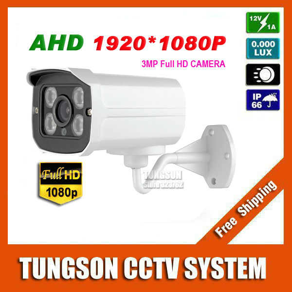 Super HD New Arrival 1920P AHD Security Mini Surveillance Outdoor Waterproof 4*Array infrared 3MP CCTV Camera Free shipping(China (Mainland))