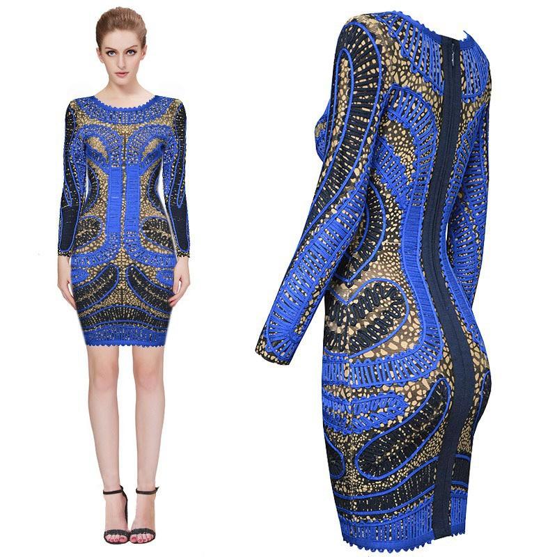 2015 new arrival luxury fashion vintage bodycon