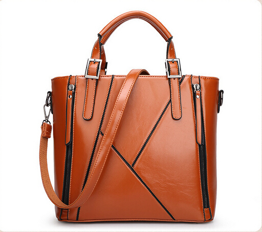 100% Genuine leather Women handbags Wholesale 2015 new stitching bag diagonal single shoulder bag handbag bag outlet explosion(China (Mainland))