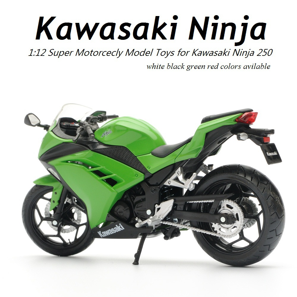 New Arrival 1:12 Alloy ABS Super Motorcycle Model for Kawasaki Ninja Best of Packing Box as Toy Gift and Cellections for Boys(China (Mainland))