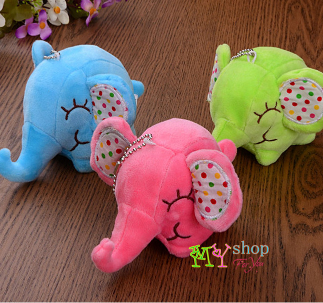 Korean cute little baby elephant ears stuffed toys, mobile phone pendant six one children gifts gifts(China (Mainland))